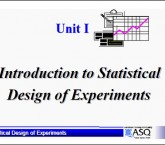 Introduction of statistical design of experiment