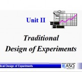 Traditional design of experiment